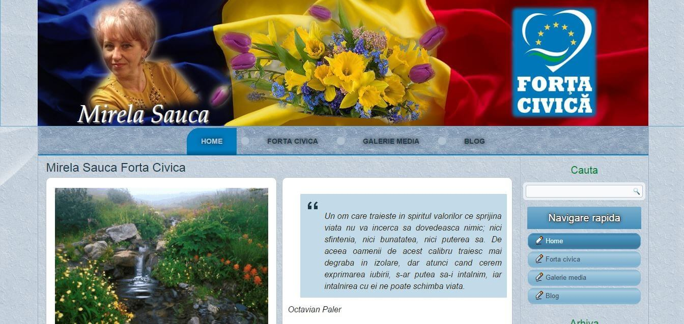 Mirela Sauca Forta Civica   Datel IT Web design ,creare site,realizare site,magazin online,blog
